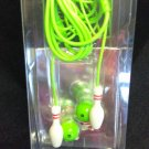 Bowling Pin Earbuds - LIME GREEN