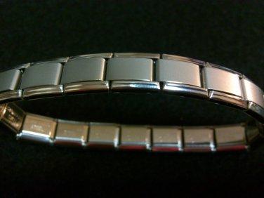 Stainless Steel Italian Charm Bracelet - PLAIN MATTE