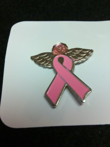 Breast Cancer Angel Ribbon Pin