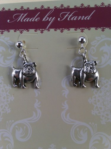 Bulldog Dangling Post Earrings