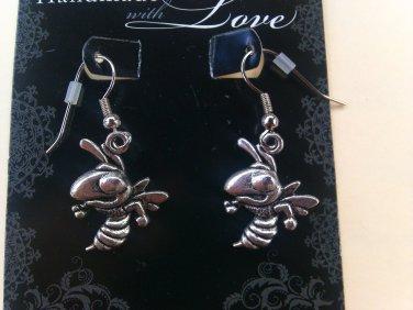Yellow Jacket (fish hook) Earrings