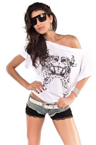 Ladies Top, Tribal Printed Dolman Sleeve T-shirt