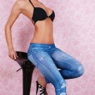 Ladies Tights Leggings Fashion  Blue Legging Pants Jeans