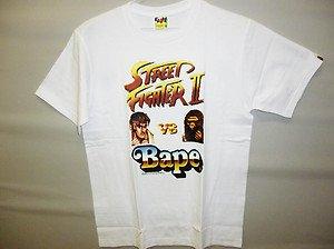 42ae1b54b bape street fighter 2 ryu x ape white tee L