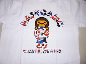 f3aafa72 bape london city blue/red camo milo tee XL ape