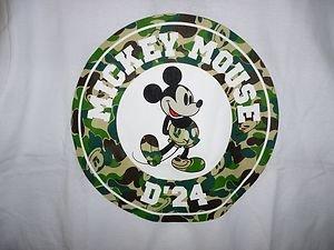 d72f527d disney x bape mickey mouse circle white d24 tee L