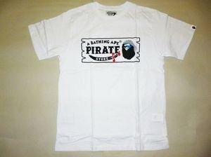 c0cee635 bape pirate store side logo white/gray tee S