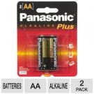 24 Pk Panasonic Alkaline Plus AA  Batteries exp 2019
