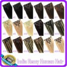 "18""  INDIAN CLIP in Hair Extensions REMY 7pcs-80g/set"