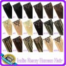 "20""  INDIAN CLIP in Hair Extensions REMY 7pcs-90g/set"