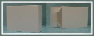 25 White Semi-Gloss Soap Boxes