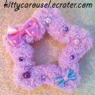 chocomint fluffy star clip lavender