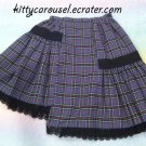 AATP plaid asymmetrical skirt purple
