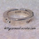 SALE q-pot cheese ring silver