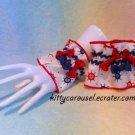 3 bow sailor wrist cuffs