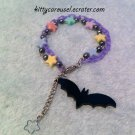 Galaxy bat bracelet lavender x black