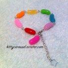 Scrumptious jelly bean bracelet rainbow