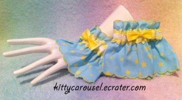 Starry sky wrist cuffs blue x yellow