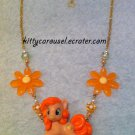 My little pony peachy pie necklace gold x orange