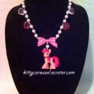 My little pony cinnamon breeze necklace pink x white