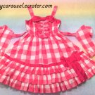 Angelic pretty gingham frill jsk pink
