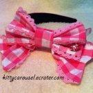 Angelic pretty gingham headband pink