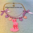 SALE Angelic pretty dreamy bunny necklace lavender