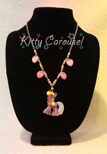 My little pony Holly Dash chain necklace pink x yellow