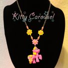 My little pony Junebug chain necklace pink x yellow