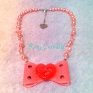 Angelic pretty drop ribbon necklace pink