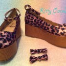 Dream V leopard flatforms