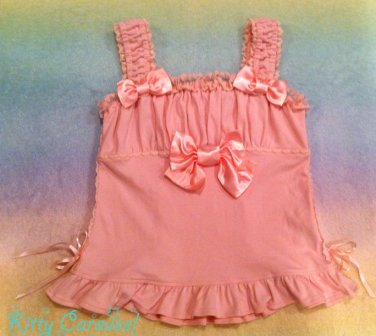 Angelic pretty triple ribbon cutsew pink