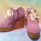 SALE Liz Lisa cork wedge heels lavender