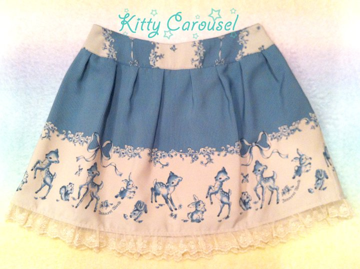 SALE Innocent world delft lotta skirt blue
