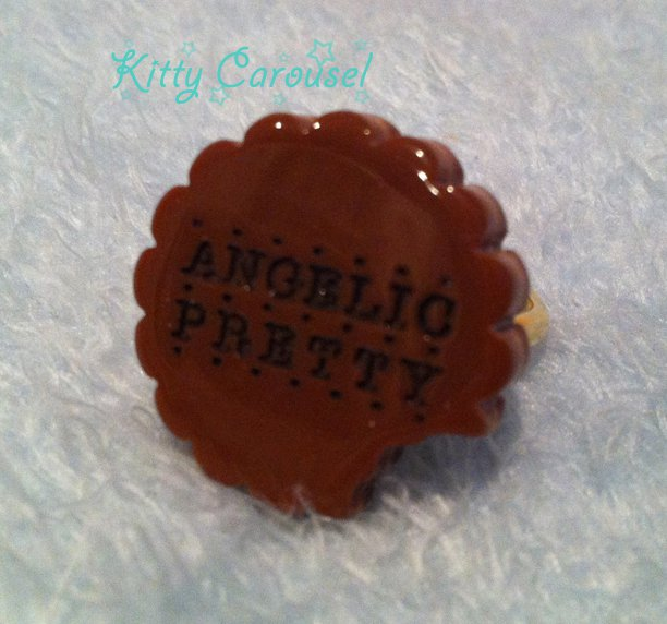 Angelic pretty sweet cream biscuit ring brown