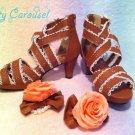 Dream V princess sandals terracotta