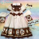 Angelic pretty melty chocolate op/ headbow/ sock set mint
