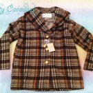 Liz Lisa plaid coat brown
