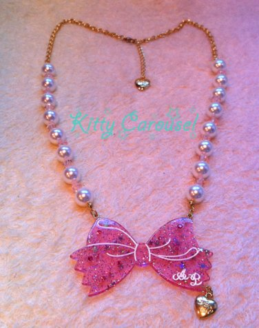 Angelic pretty SF limited ribbon necklace pink