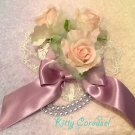 Angelic Pretty rosy rose barrette lavender