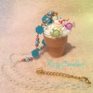 Kitty Carousel ice cream candy necklace blue