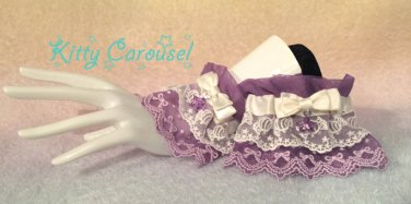 Kitty carousel Candy lace wrist cuffs lavender