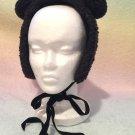 Heart E bear headdress black