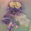 Angelic pretty dramatic rose headdress lavender