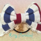 aatp Tricolour ribbon hair band navy