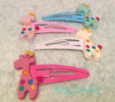 Giraffe hair clips mixed