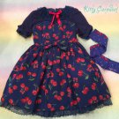 SALE Angelic pretty Drained Cherry Switching OP OTK set blue
