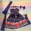 Angelic pretty star night theather bare set blue