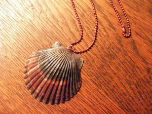 Item 009 Large shell necklace with matching earrings