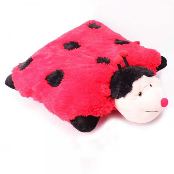 Pet Pillow Lady Bug Plush Stuffed Animal Pillow